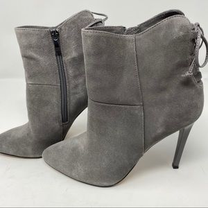 French Connection Monay gray suede bootie, 7.5